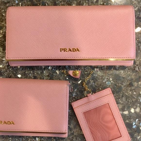 918aa696c6b8 Prada Saffiano Leather Continental Wallet Pink. M_5b6f5b1a34e48a78a0a9b99d
